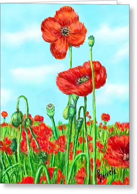 Poppies N' Pods Greeting Card