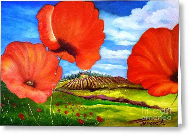 Poppies Of Provence Greeting Card