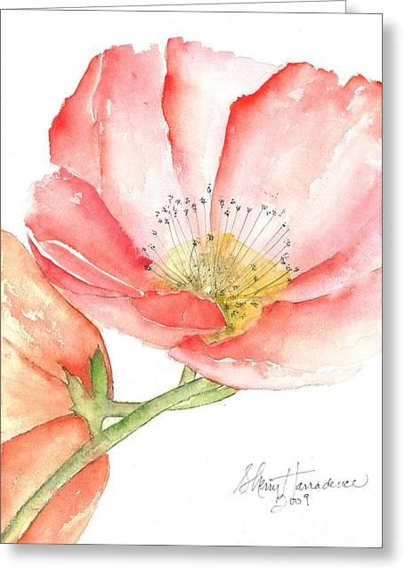Poppy Bloom Greeting Card