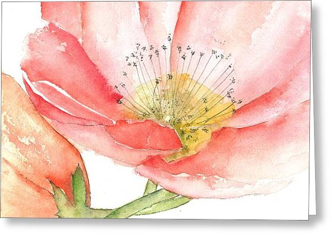 Poppy Bloom Greeting Card by Sherry Harradence
