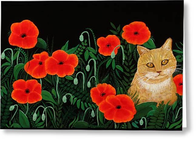 Poppy Cat Greeting Card