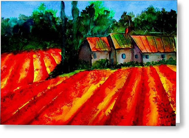 Poppy Field  Sold Greeting Card