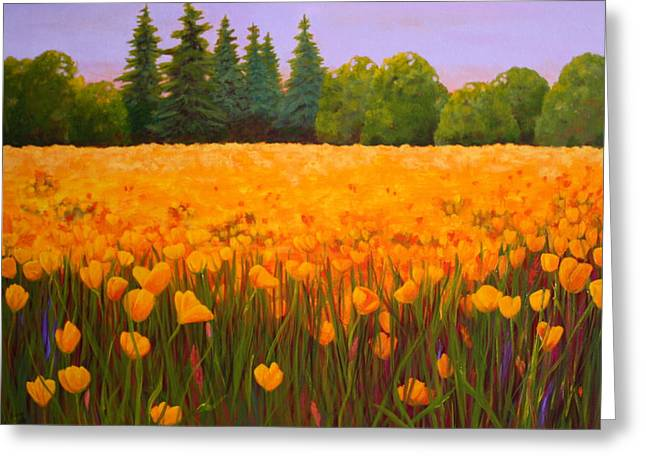 Poppy Fields Forever Greeting Card by Nancy Jolley