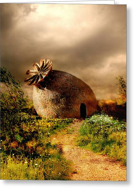 Poppy House In A Sunny Day Greeting Card by Jaroslaw Blaminsky