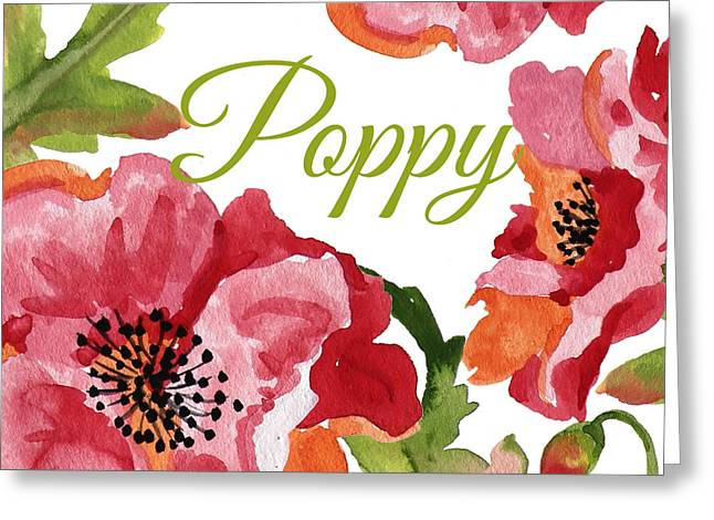 Poppy-jp2588 Greeting Card by Jean Plout