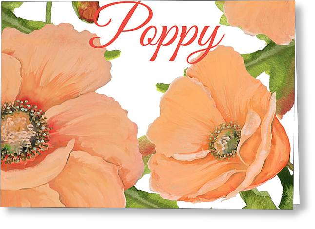 Poppy-jp2589 Greeting Card by Jean Plout