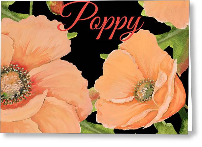 Poppy-jp2697 Greeting Card by Jean Plout