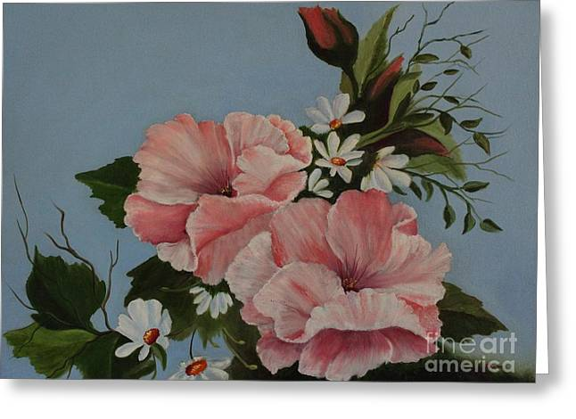 Poppy Love Greeting Card by Louise Williams