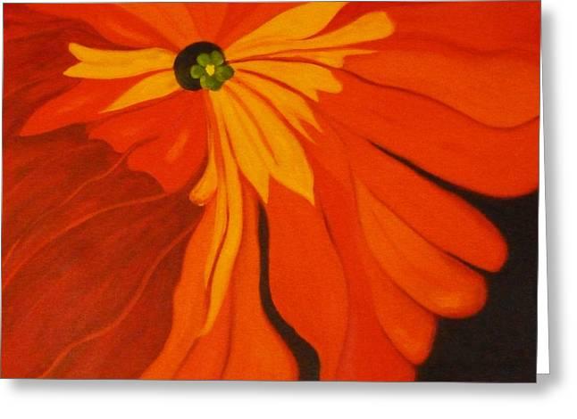 Poppy Greeting Card by Nancy Merkle