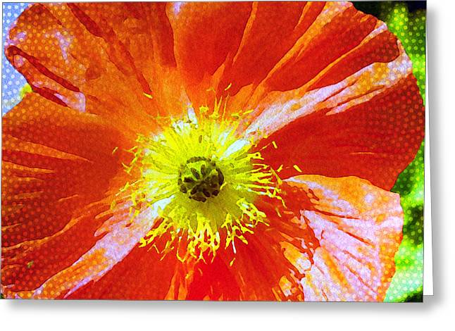 Poppy Series - Facing The Sun Greeting Card by Moon Stumpp
