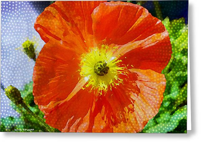 Poppy Series - Opened To The Sun Greeting Card by Moon Stumpp