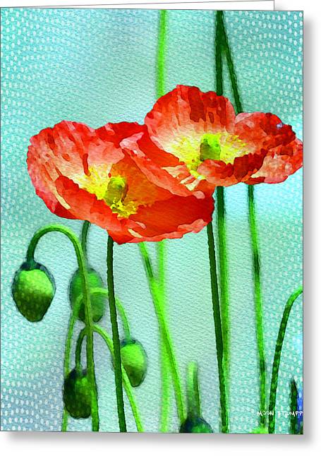 Poppy Series - Quite Greeting Card by Moon Stumpp