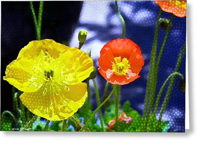 Poppy Series - Soaking Up Sunbeams Greeting Card by Moon Stumpp
