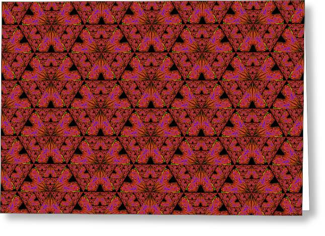 Poppy Sierpinski Triangle Fractal Greeting Card