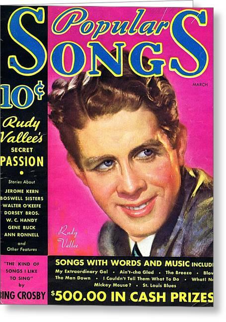 Popular Songs Rudy Vallee Greeting Card