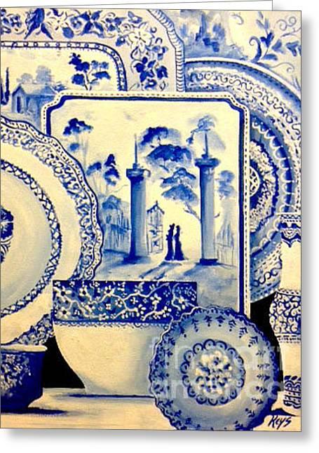 Porcelain 3 Greeting Card by Jose Luis Reyes