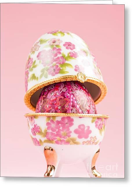 Porcelain Egg Decoration Greeting Card by Mythja  Photography