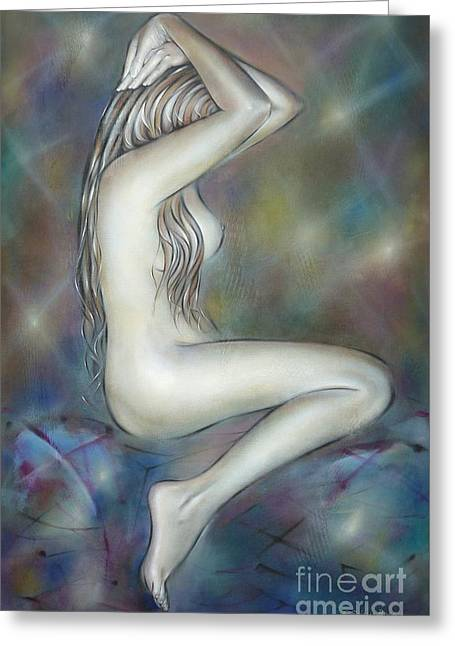 Porcelain Nude 080810 Greeting Card by Selena Boron