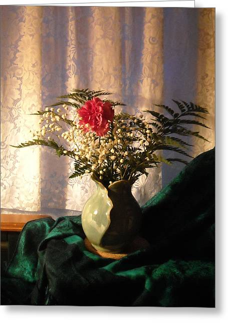 Porcelain Petal Vase 4 In Still Life Greeting Card