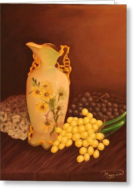 Porcelain Vase Greeting Card by Lou Magoncia