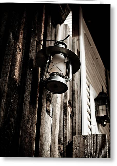 Porch Lantern Greeting Card by Swift Family