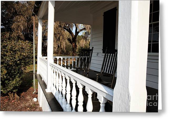 Historic Site Greeting Cards - Porch View Greeting Card by John Rizzuto
