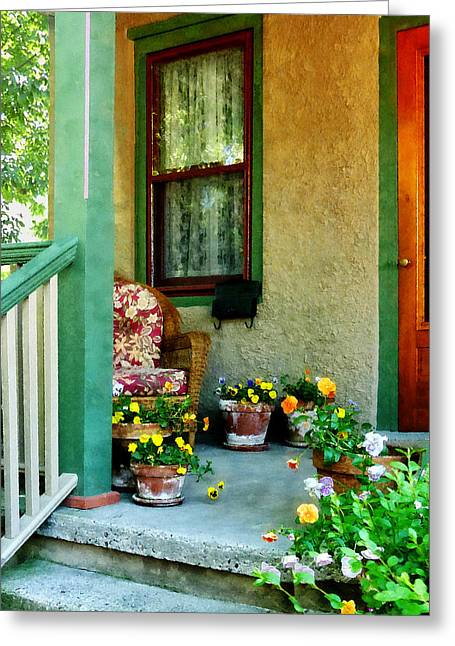 Porch With Padded Chair Greeting Card
