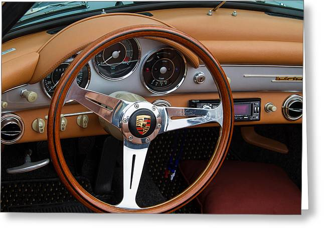 Porsche 356b Super 90 Interior Greeting Card by Roger Mullenhour
