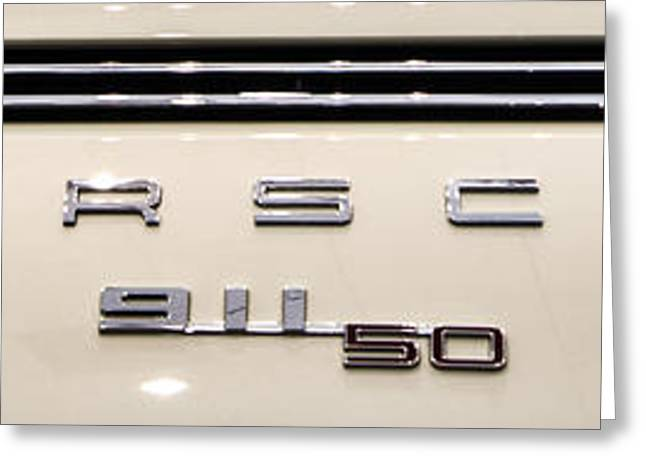 Porsche 50th Anniversary Rear Badge Greeting Card