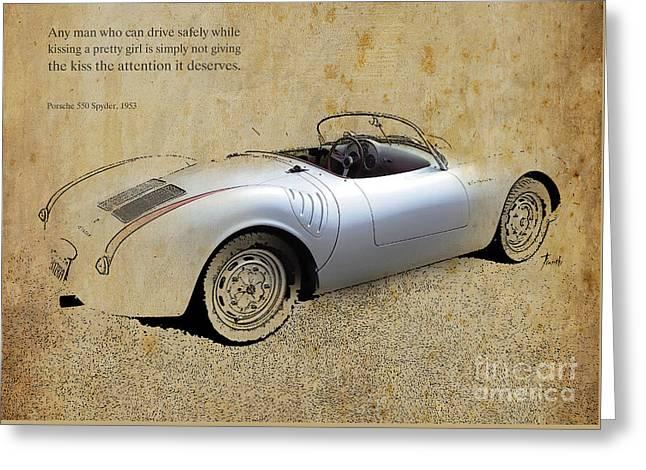 Porsche 550 Spyder 1953 Greeting Card