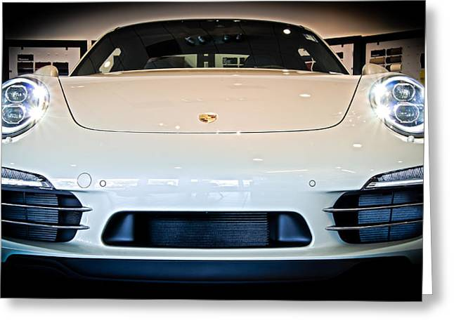 Porsche 911 50th Front With Led's Greeting Card