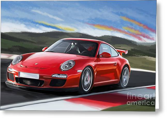 Porsche 911 Gt3 Greeting Card by Tim Gilliland