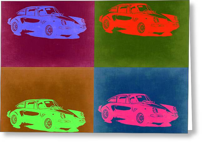 Porsche 911 Pop Art 3 Greeting Card