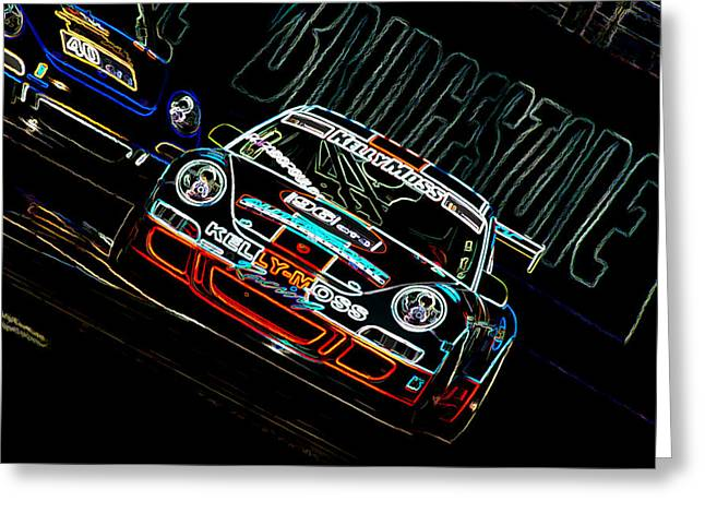 Porsche 911 Racing Greeting Card by Sebastian Musial