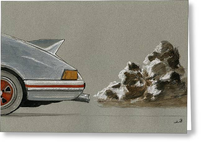 Porsche 911 Rs Classic 2 7 White Greeting Card by Juan  Bosco
