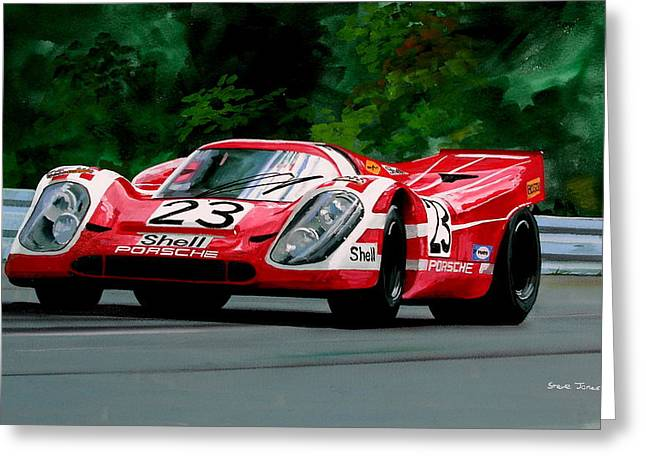 Porsche 917  Le Man Winner Greeting Card