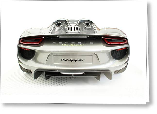 Porsche 918 Spyder Greeting Card by Roger Lighterness
