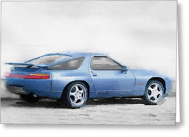 Porsche 928 Watercolor Greeting Card