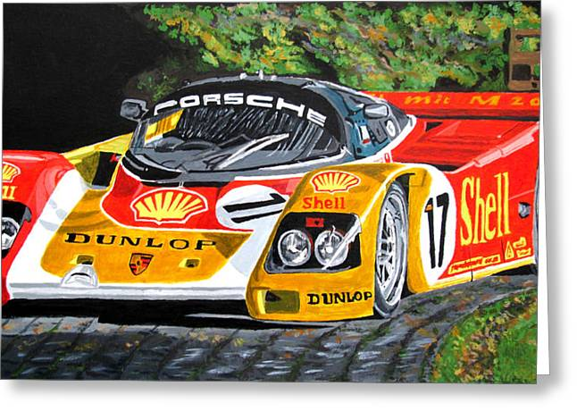 Porsche 962 Greeting Card by Jose Mendez