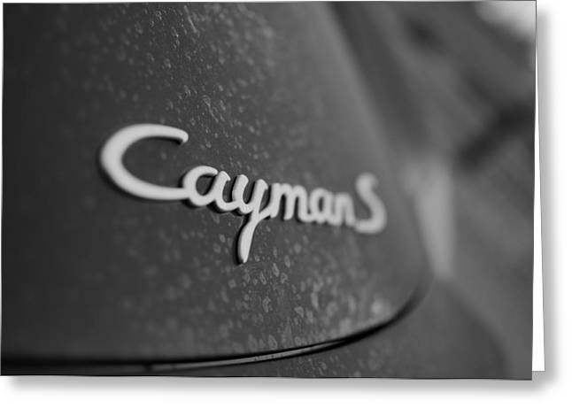 Standing Porsche Cayman S Greeting Card by Miguel Winterpacht