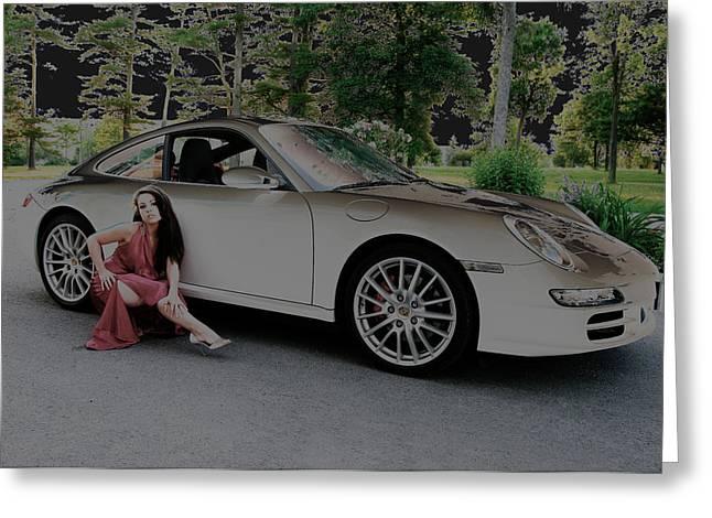 Porsche Chromatic Greeting Card by Paul Wash