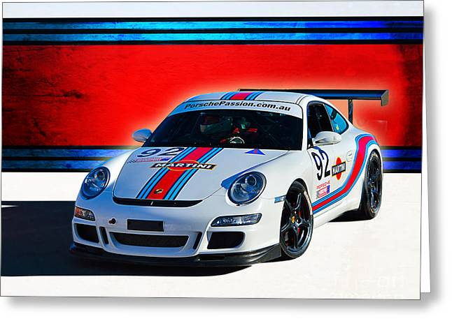 Porsche Gt3 Martini Greeting Card