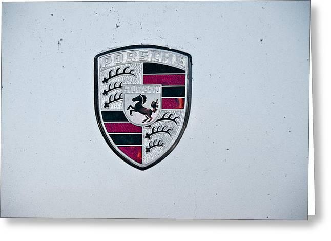 Porsche Shield  Greeting Card