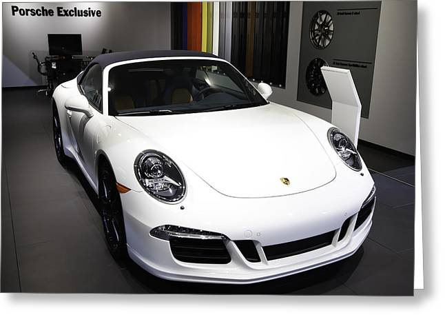 Porsche Showcased At The New York Auto Show Greeting Card