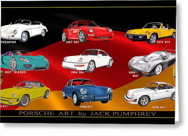 Porsche Times Nine Greeting Card