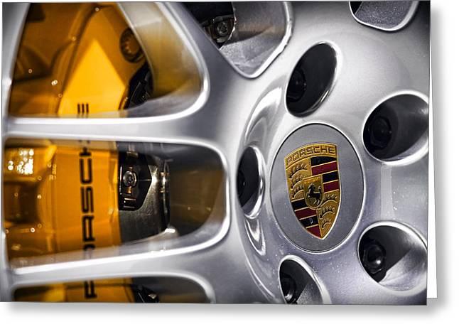 Porsche Wheel Greeting Card