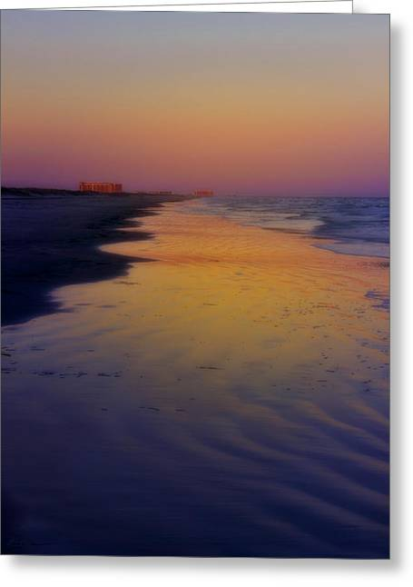 Greeting Card featuring the photograph Port Aransas Sunset by Ellen Heaverlo
