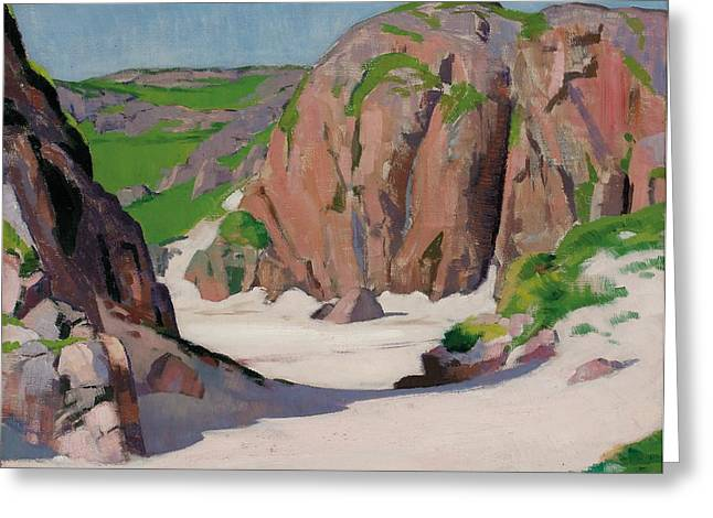 Port Bhan  Iona Greeting Card by Francis Campbell Boileau Cadell