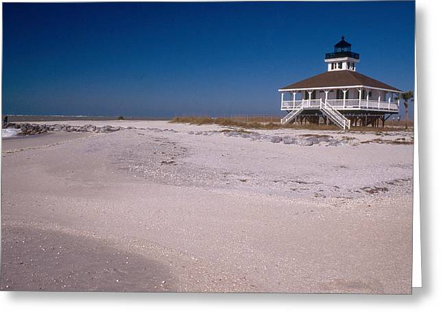 Port Boca Grande Lighthouse Greeting Card by Bruce Roberts
