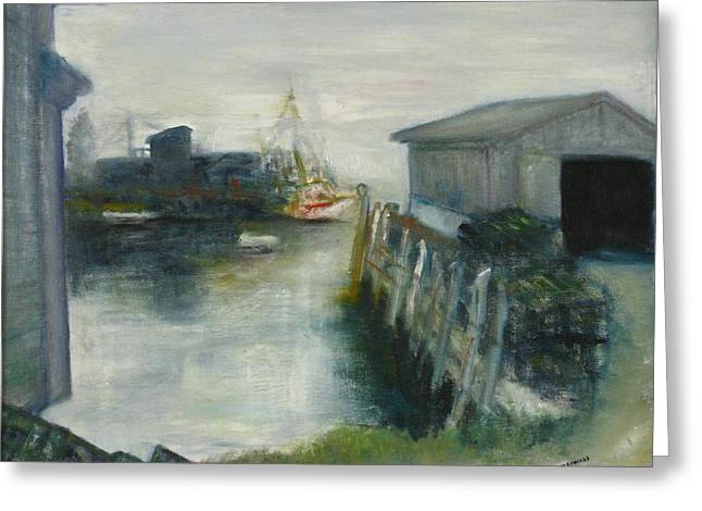 Port Clyde In Fog Greeting Card